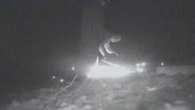 CCTV of railway cable theft