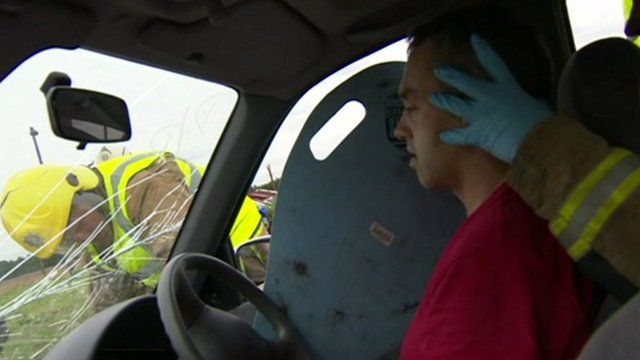 Car rescue exercise