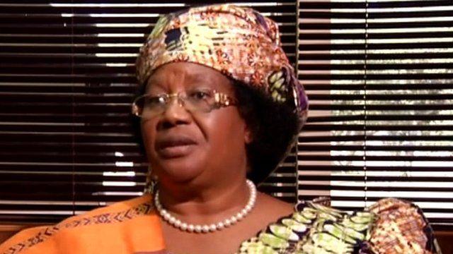 Malawi's president, Joyce Banda