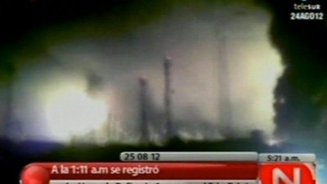 Video footage from Venezuelan Television