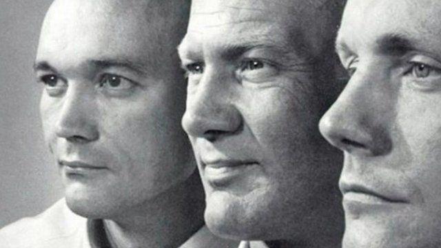 The Apollo 11 crew: Armstrong, Collins and Aldrin