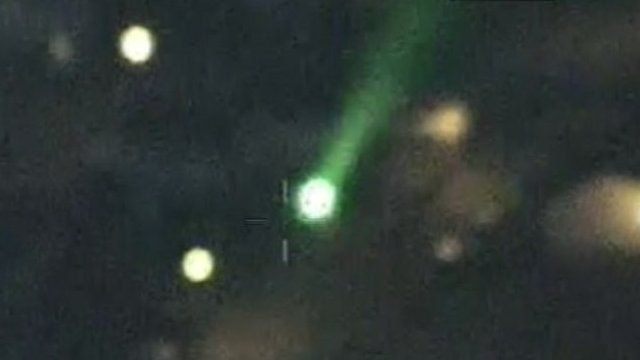Laser pen pointed at police helicopter in Torquay