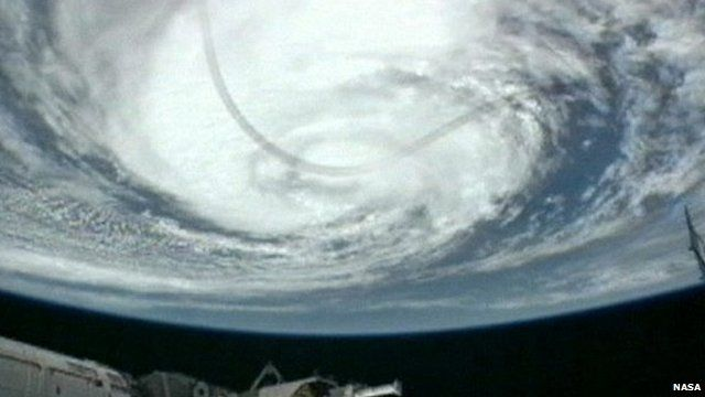 Hurricane Isaac seen from the International Space Station