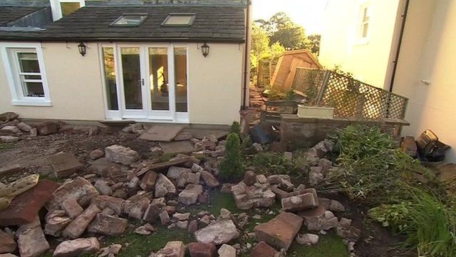 Flood damage in St Bees