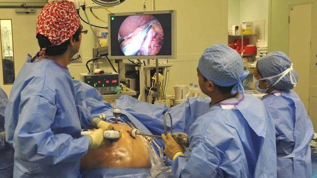 Surgeons perform gastric surgery (generic)