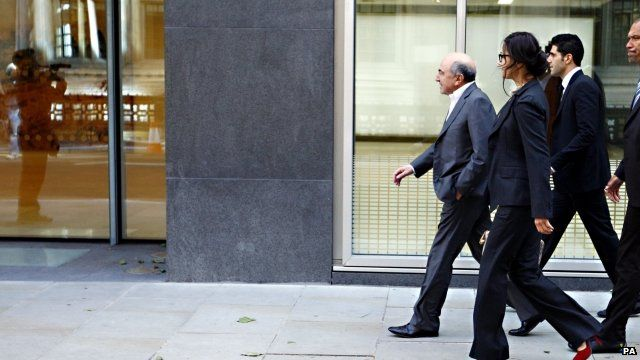 Boris Berezovsky walks into court