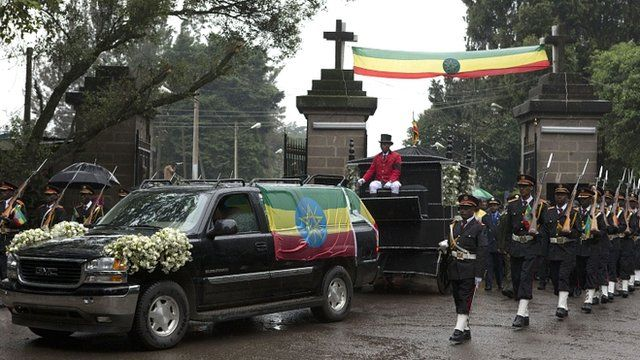 The cortege for Ethiopia's long-serving Prime Minister Meles Zenawi