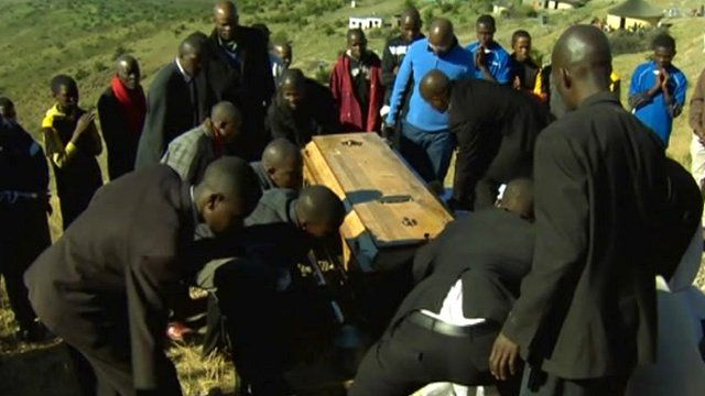 A miner is buried in the Eastern Cape