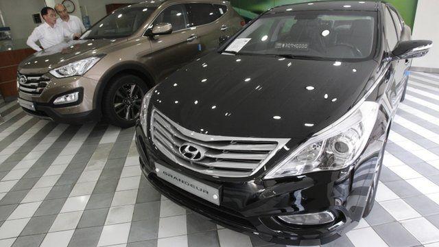 Hyundai Motor's showroom in Seoul, South Korea