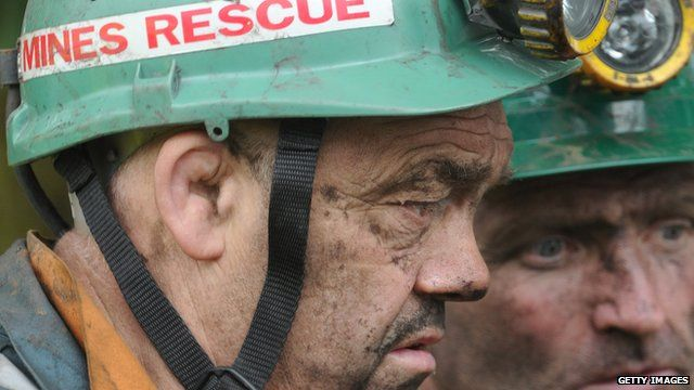 Mines rescue workers