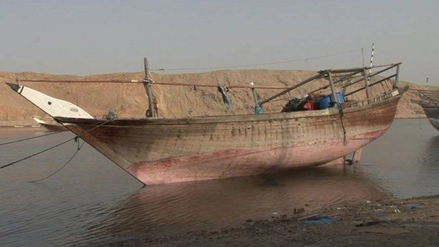 Wooden dhow
