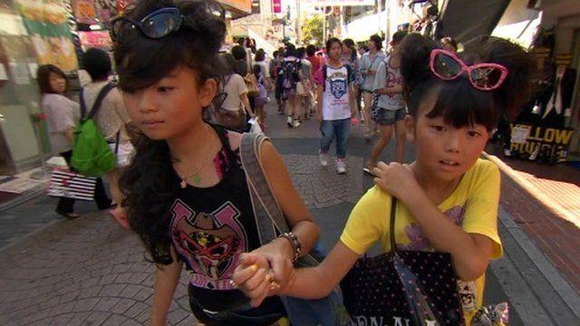 Girls wearing Japanese fashion