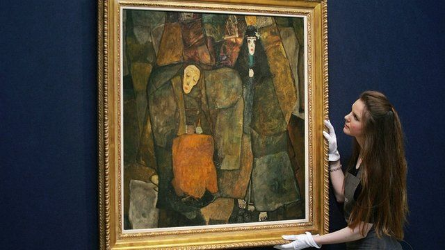 A painting auctioned at Christie's