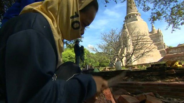 Rebuilding ancient temples in Thailand