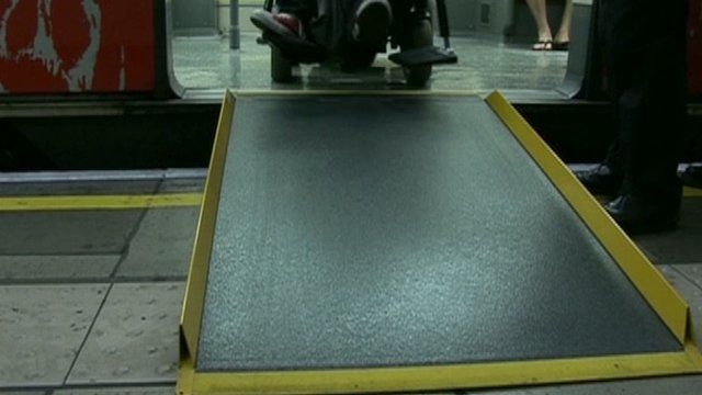 Whelchair ramp on the Tube
