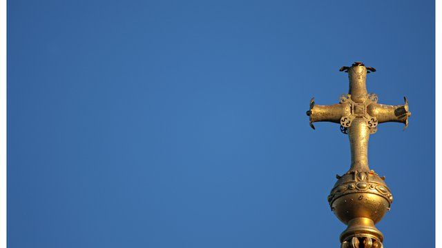 The cross on top of St Paul's cathedral in London