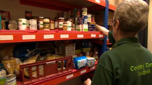 Food bank in Coventry