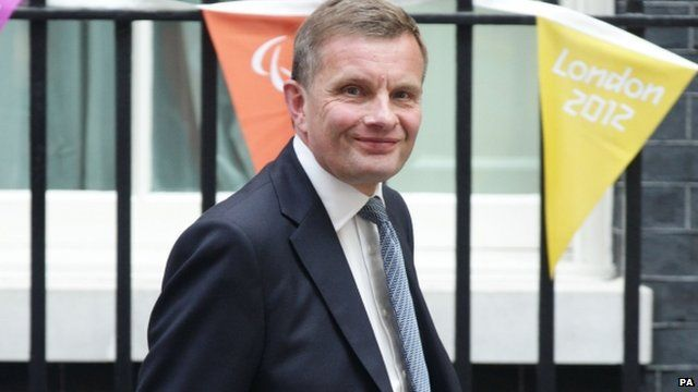 David Jones arriving at 10 Downing Street on Tuesday
