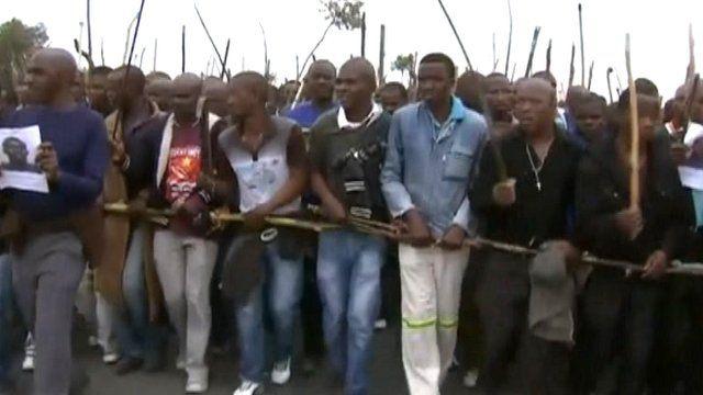 Marikana miner workers rally