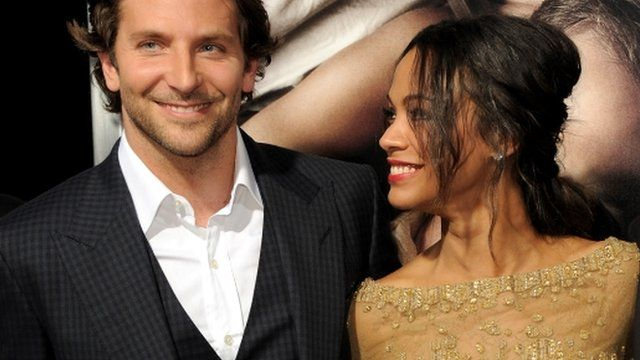 Bradley Cooper and Zoe Saldana attend the US premiere of The Words