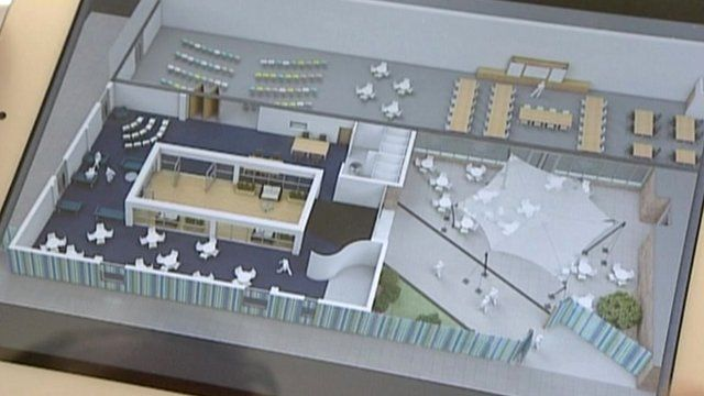 Architect's model for Stirling House