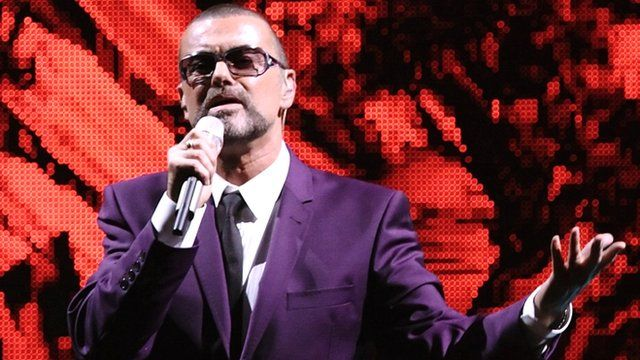 George Michael on stage in Vienna