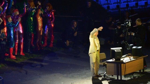Tim Berners-Lee at Olympic opening ceremony