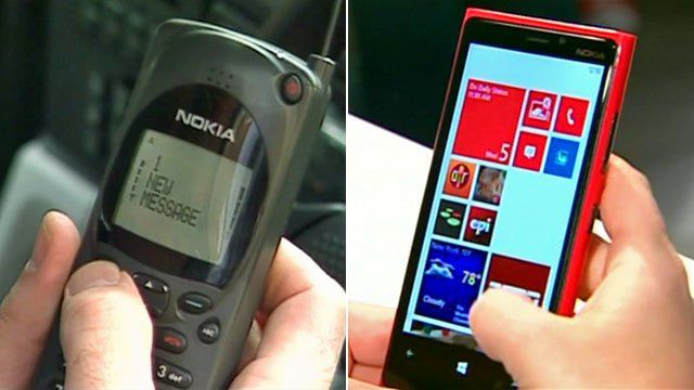 Nokia phones from the 1990s and 2012
