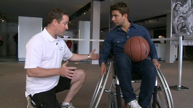 Ricky in wheelchair used in wheelchair basketball