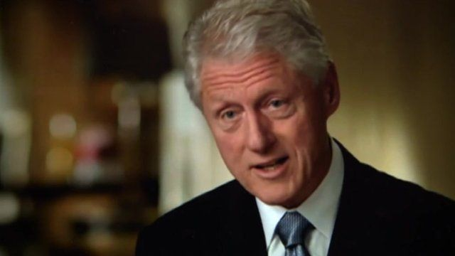Bill Clinton in a screenshot from an Obama campaign video