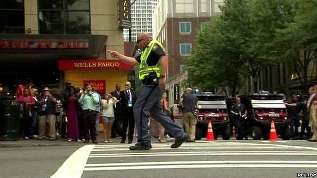 Traffic policeman doing moonwalk in the street