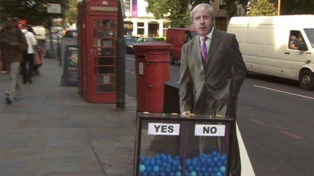 Boris Johnson and the mood box