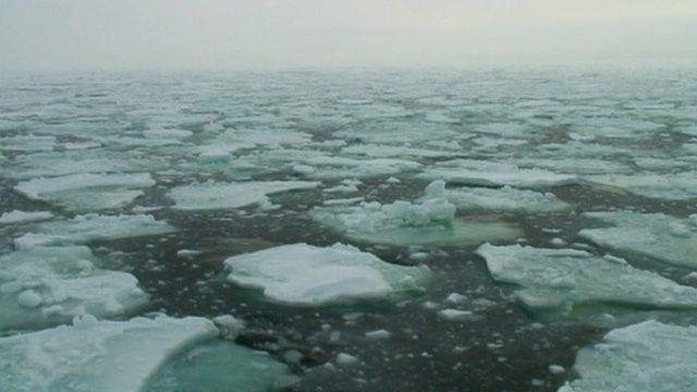 Melting polar ice
