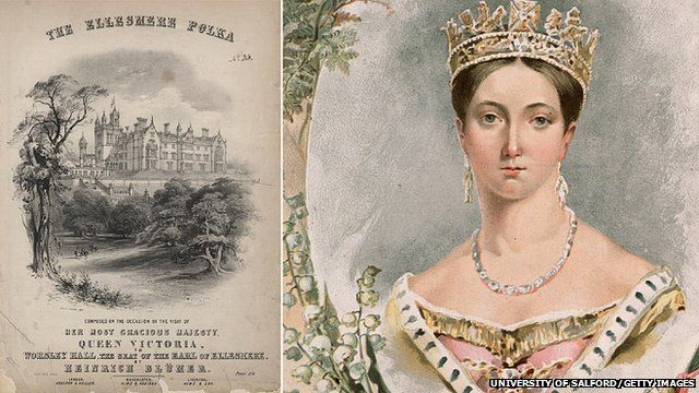 A poster for the polka and Queen Victoria
