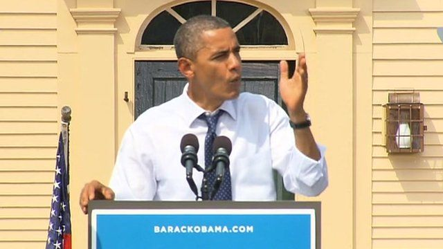 President Obama in Portsmouth New Hampshire