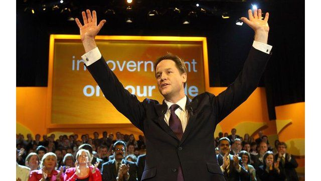 Nick Clegg at last year's LibDem conference