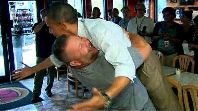 Barack Obama and Scott Van Duzer