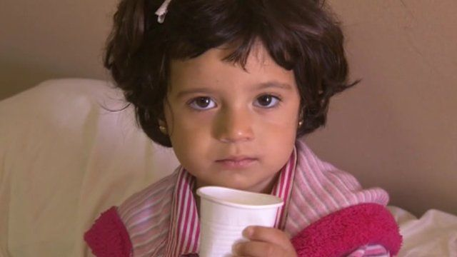 A Syrian child at the Zaatari camp in Jordan