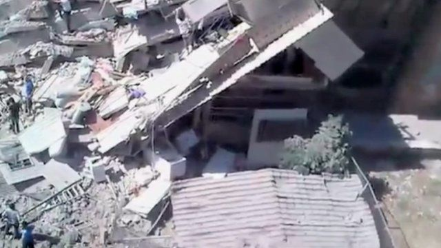 Footage, of the scene in Aleppo, cannot be verified