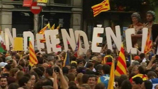 Rally in Barcelona