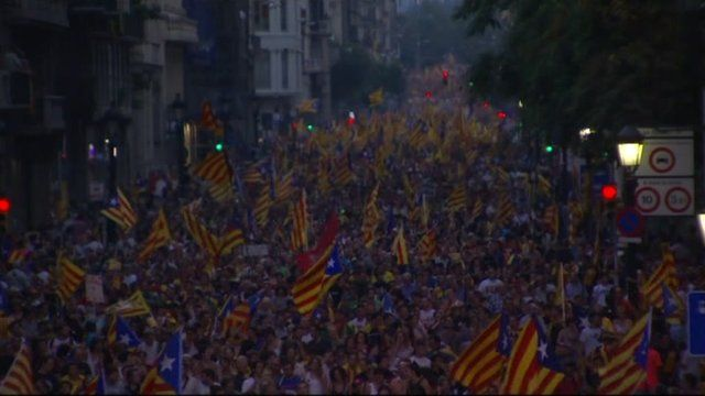 Catalan independence rally