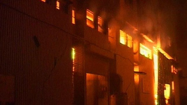 Fire at Karachi factory
