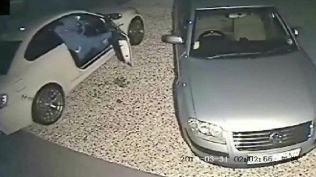 CCTV shows BMW being stolen
