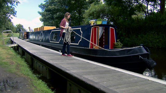 Boat on a canal