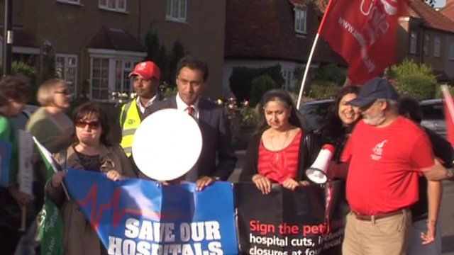 Protesters campaigning against plans to close four out of nine A&Es