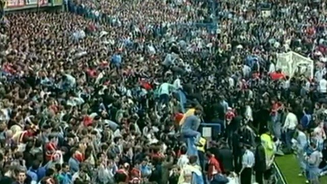The over-crowded middle pens at the Leppings Lane end of the stadium resulted in a devastating crush