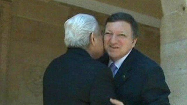 European ministers kissing