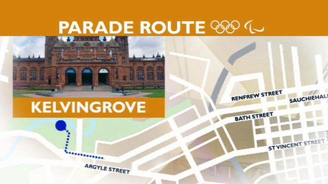 The parade will set off from Kelvingrove