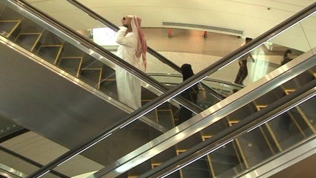 Escalators and air conditioning cost a lot in energy terms for mall owners