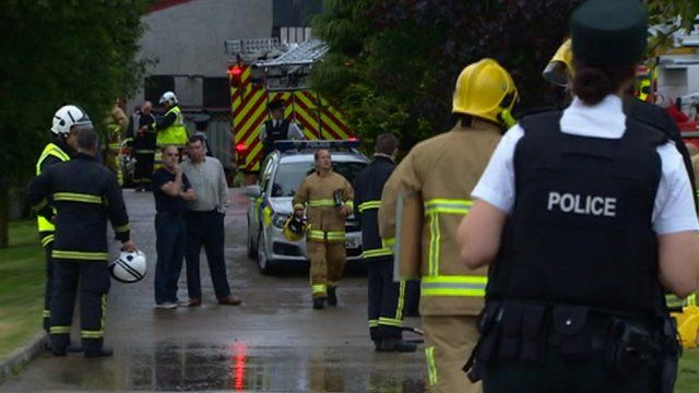 Emergency services at the scene in County Down